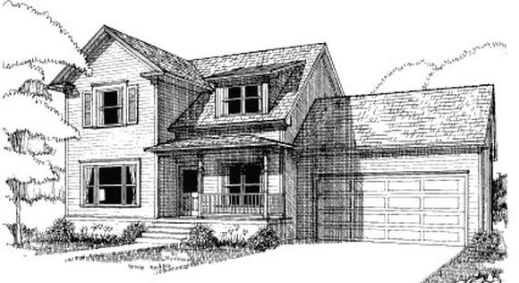 Bungalow House Plan 72736 with 4 Beds, 3 Baths, 2 Car Garage Elevation