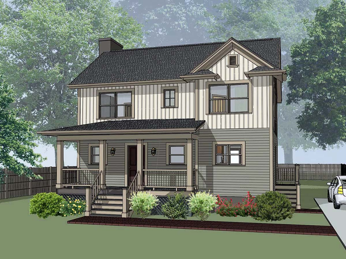 Bungalow House Plan 72742 with 3 Beds, 3 Baths Elevation