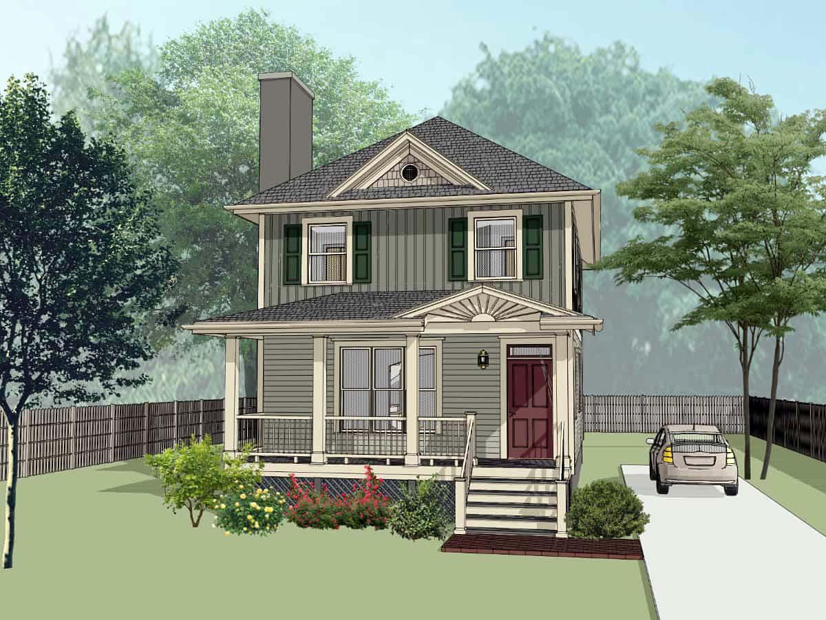 Bungalow House Plan 72744 Elevation