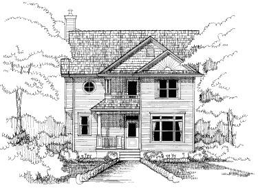 Bungalow House Plan 72752 Elevation
