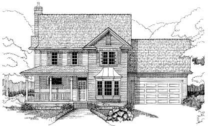 Bungalow House Plan 72754 Elevation