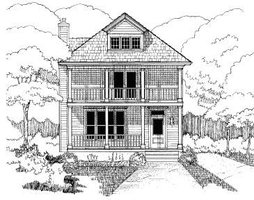 Bungalow House Plan 72757 Elevation