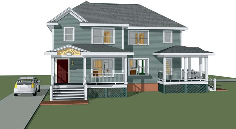 Bungalow Multi-Family Plan 72777 Elevation