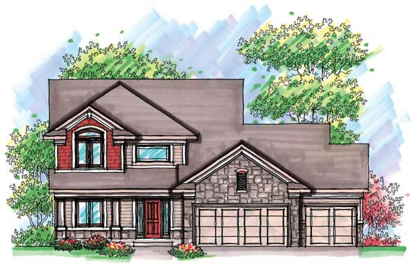 Country Craftsman Farmhouse Traditional House Plan 72907 Elevation