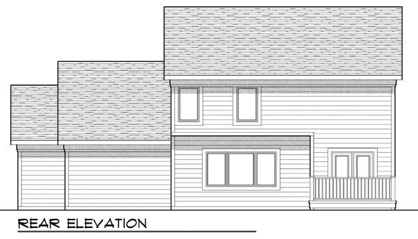 Country Craftsman Farmhouse Traditional House Plan 72907 Rear Elevation