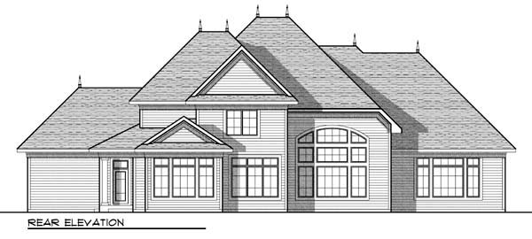 Country European House Plan 72917 Rear Elevation