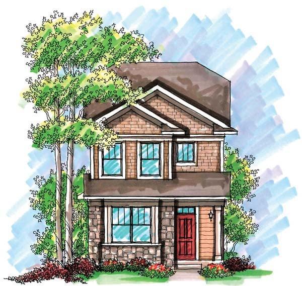 Cottage, Craftsman House Plan 72921 with 2 Beds, 3 Baths, 2 Car Garage Elevation