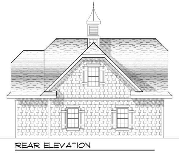 Garage Plan 72929 Rear Elevation