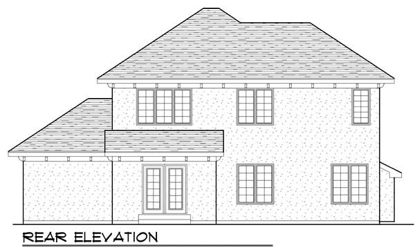 Mediterranean House Plan 72931 with 3 Beds, 3 Baths, 3 Car Garage Rear Elevation