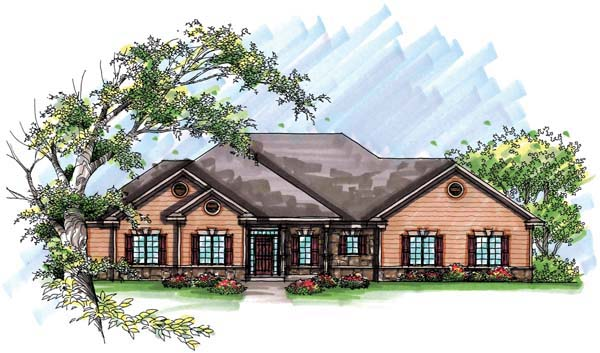 Country European House Plan 72937 Elevation