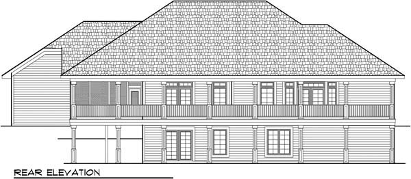 Country European House Plan 72937 Rear Elevation