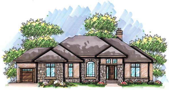 Coastal Mediterranean Ranch House Plan 72941 Elevation