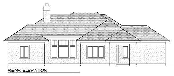 Coastal Mediterranean Ranch House Plan 72941 Rear Elevation