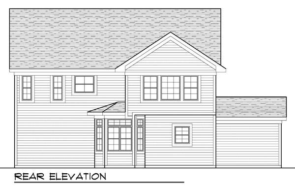 Country Farmhouse Traditional House Plan 72946 Rear Elevation
