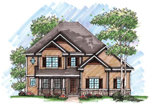 Country, Farmhouse, Traditional House Plan 72947 with 4 Beds, 4 Baths, 3 Car Garage Elevation