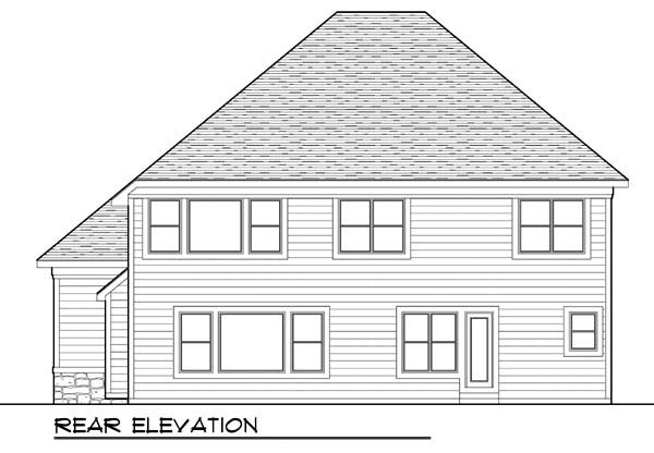 Country, Farmhouse, Traditional House Plan 72947 with 4 Beds, 4 Baths, 3 Car Garage Rear Elevation