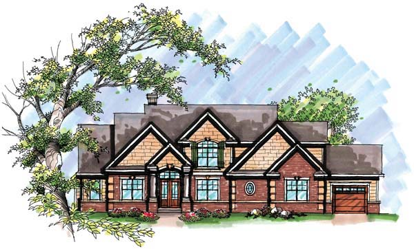 Craftsman European House Plan 72953 Elevation