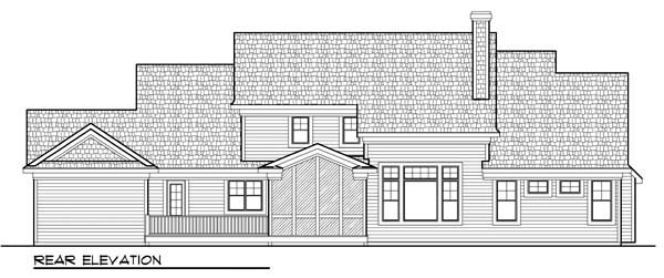 Craftsman European House Plan 72953 Rear Elevation