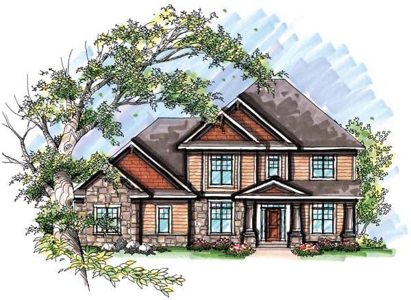 Country European Farmhouse Traditional House Plan 72957 Elevation
