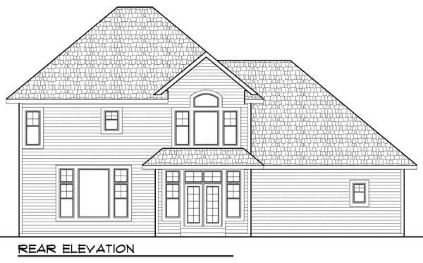 Country European Farmhouse Traditional House Plan 72957 Rear Elevation