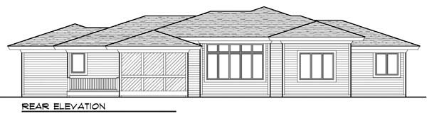 Ranch House Plan 72961 Rear Elevation