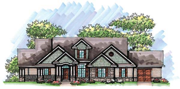 Country Craftsman European Ranch House Plan 72963 Elevation