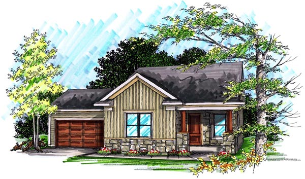 Ranch House Plan 72975