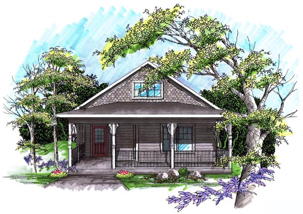 Ranch Elevation of Plan 72980