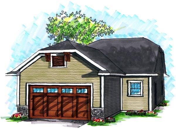 Ranch House Plan 72981 Rear Elevation