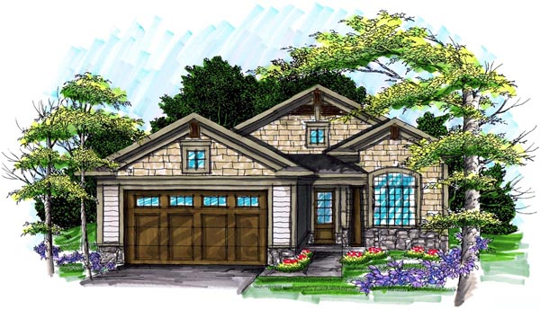 Ranch House Plan 72982 Elevation