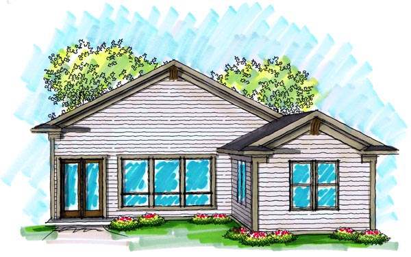 Ranch House Plan 72982 Rear Elevation