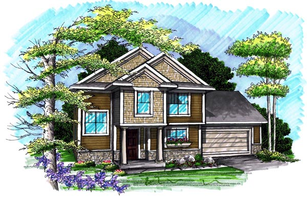 Traditional House Plan 72985 Elevation
