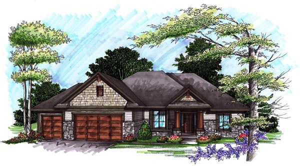 Ranch House Plan 72989 Elevation