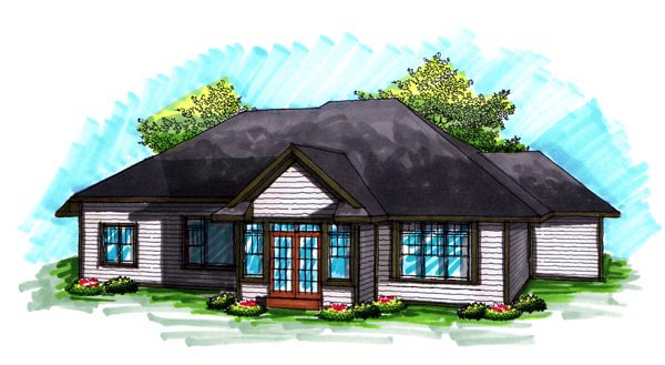 Ranch House Plan 72989 Rear Elevation