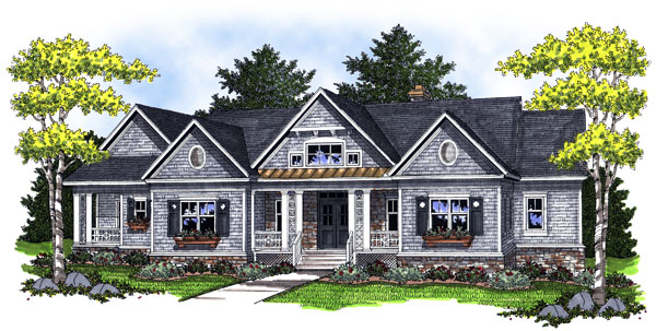 Traditional House Plan 73000 Elevation