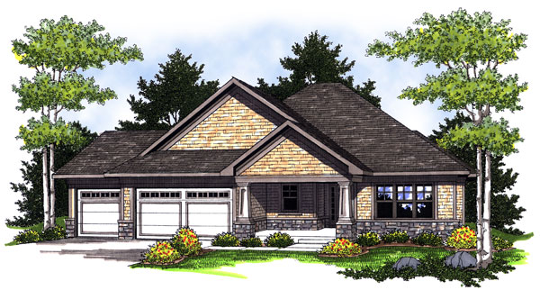 Bungalow Craftsman House Plan 73006 Elevation