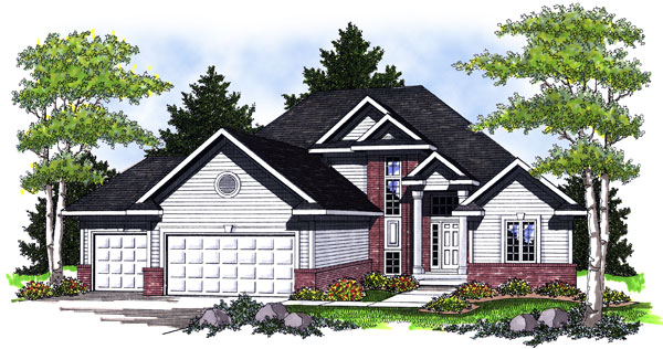 Traditional House Plan 73013 with 3 Beds, 3 Baths, 3 Car Garage Elevation