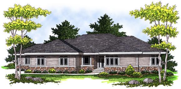 One-Story House Plan 73015 with 3 Beds, 3 Baths, 3 Car Garage Elevation