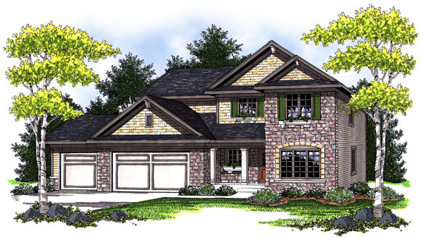 Bungalow Traditional House Plan 73018 Elevation