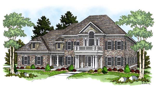 Colonial European House Plan 73060 Elevation