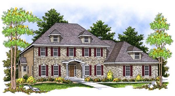 Colonial European House Plan 73063 Elevation