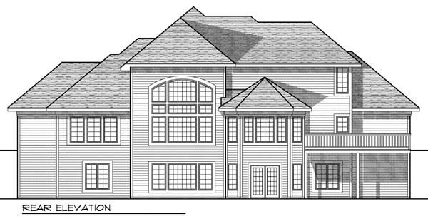 Traditional House Plan 73071 Rear Elevation