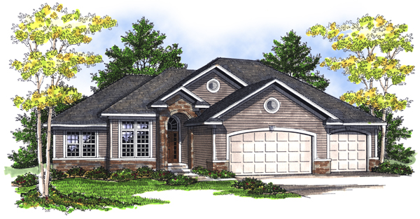 House Plan 73081 Elevation