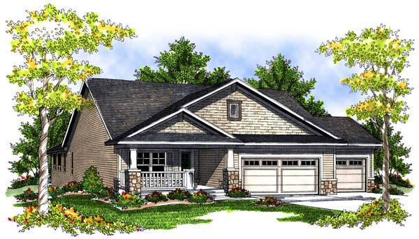 Elevation of House Plan 73083