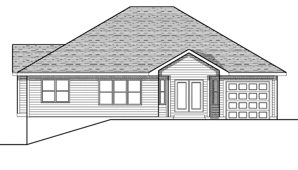 Traditional House Plan 73088 Rear Elevation