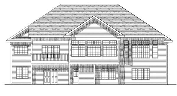 European House Plan 73092 Rear Elevation
