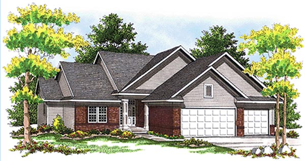 Traditional House Plan 73097 Elevation