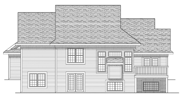 Traditional House Plan 73097 Rear Elevation