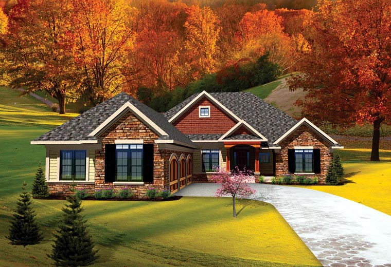 House plan 73141 at for 3 car garage cost per square foot