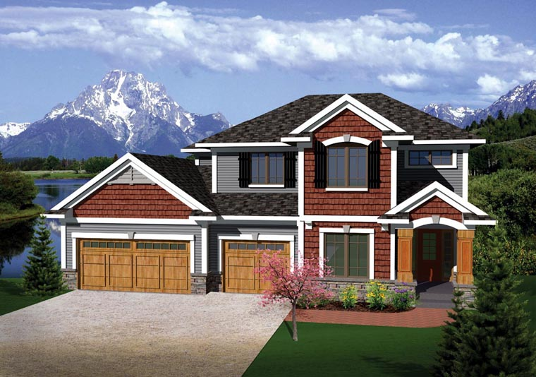 Prairie Style Traditional House Plan 73144 Elevation